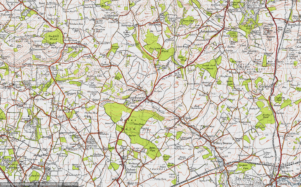Old Map of Hurstbourne Tarrant, 1945 in 1945