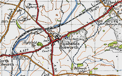 Old map of Wheler Lodge in 1946