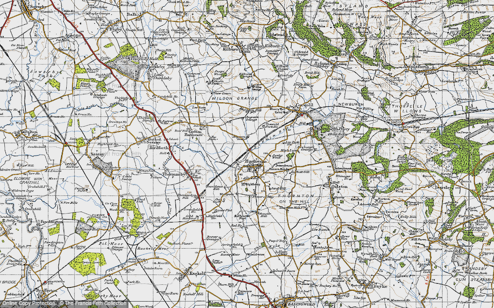Old Map of Historic Map covering Alford Ho in 1947
