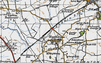 Old map of Alford Ho in 1947