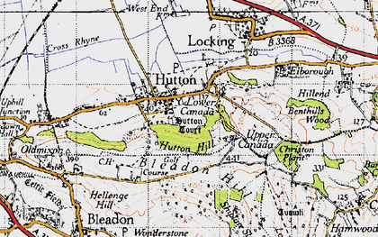 Old map of Hutton in 1946