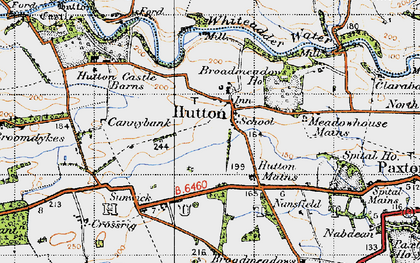 Old map of Winfield in 1947