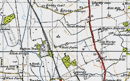Old map of Lazenby Grange in 1947