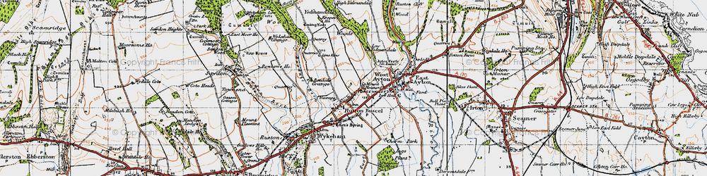 Old map of Yedmandale Woods in 1947