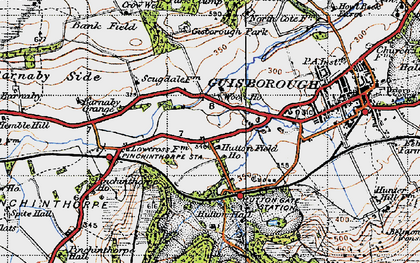 Old map of Woodhouse in 1947