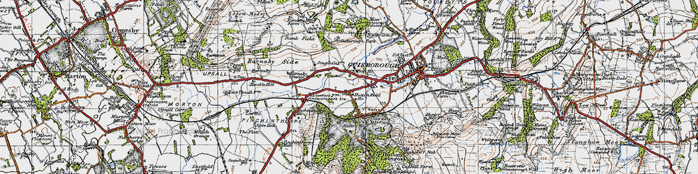 Old map of Hutton Gate in 1947