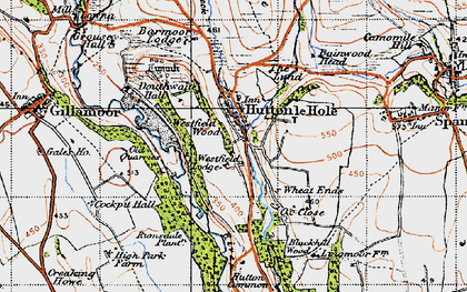 Old map of Wheat Lund in 1947