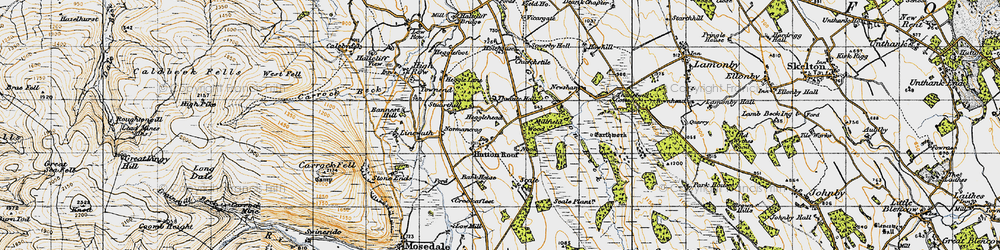Old map of Thwaite Hall in 1947