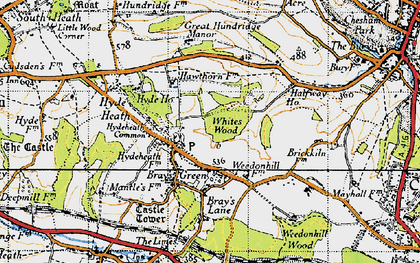 Old map of White's Wood in 1946