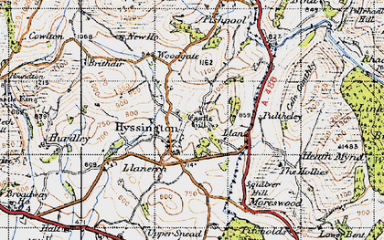 Old map of Bagbury in 1947