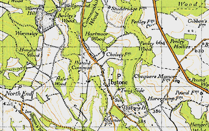 Old map of Ibstone in 1947