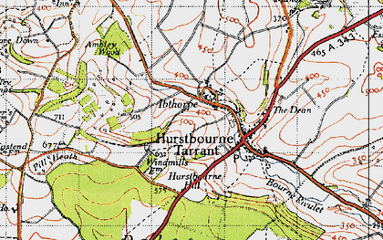 Old map of Windmills in 1945