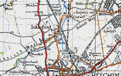 Old map of Ickleford in 1946