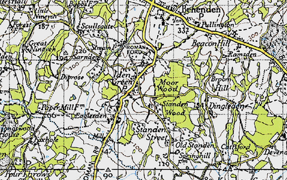 Old map of Iden Green in 1940