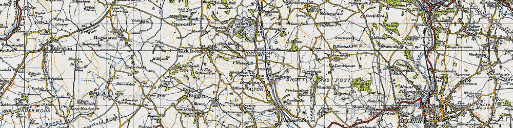 Old map of Winneyhill in 1946