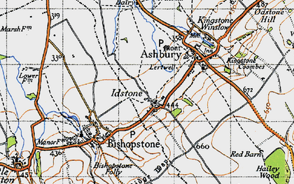 Old map of Alfred's Castle in 1947