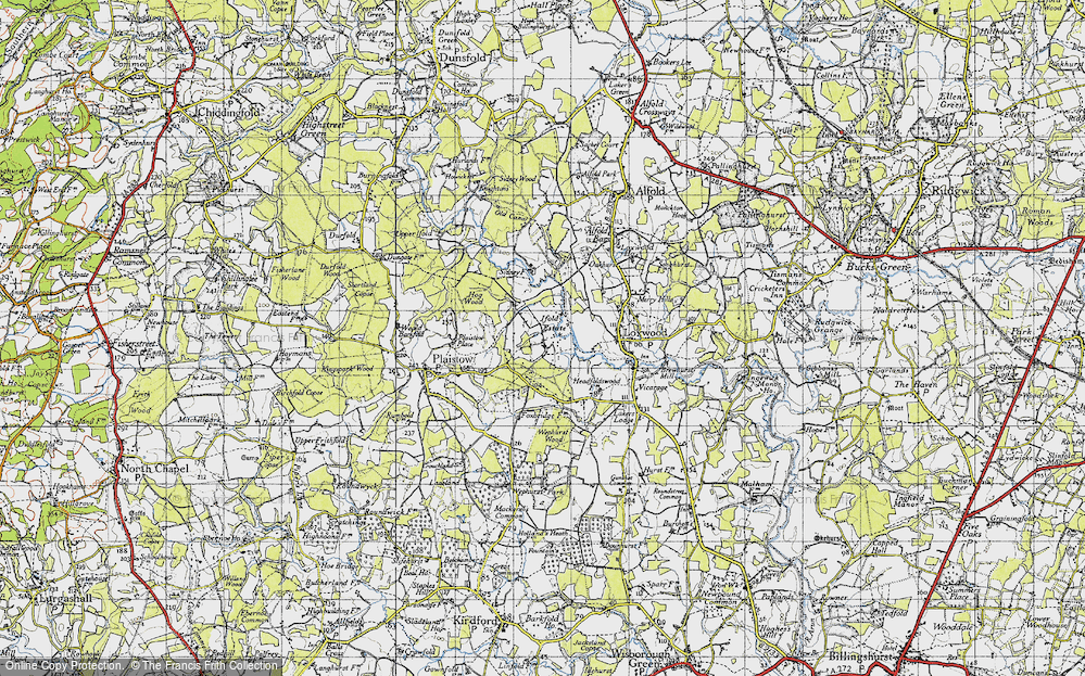 Old Map of Ifold, 1940 in 1940