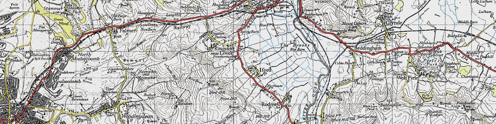 Old map of Iford in 1940