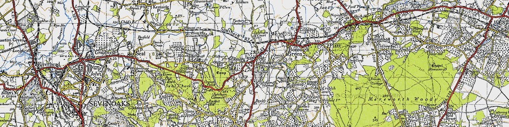 Old map of Ightham in 1946