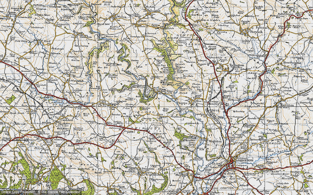Old Map of Ilam, 1946 in 1946