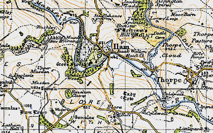 Old map of Ilam in 1946
