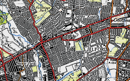 Old map of Ilford in 1946