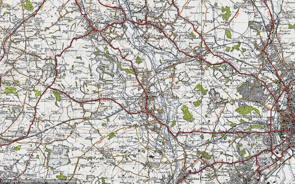 Old Map of Ilkeston, 1946 in 1946