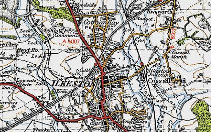 Old map of Ilkeston in 1946