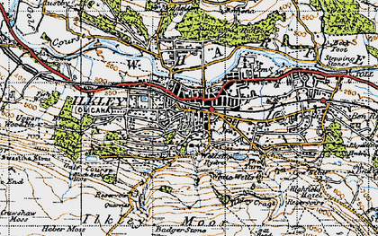 Old map of Whetstone Gate in 1947