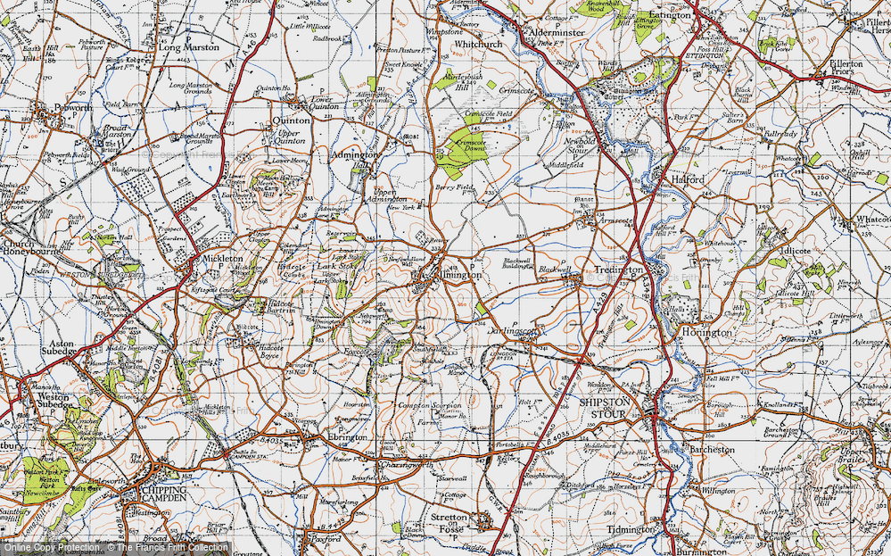 Old Map of Ilmington, 1946 in 1946