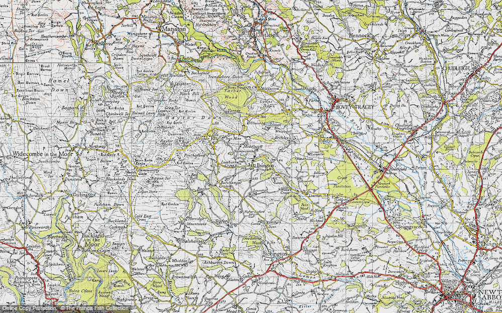 Old Map of Historic Map covering Lenda in 1946