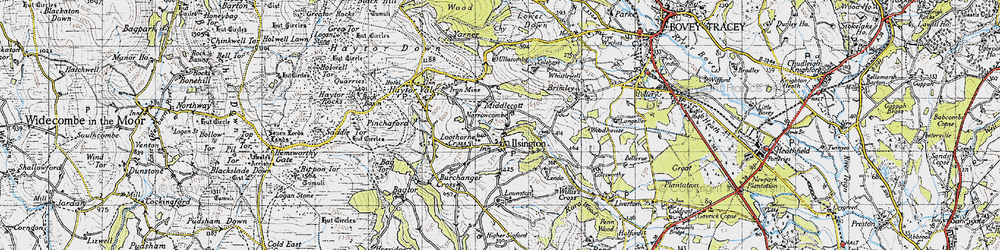Old map of Willis's Cross in 1946
