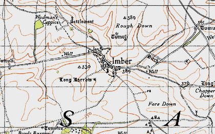 Old map of Imber in 1940