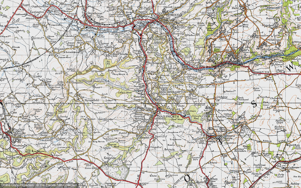 Old Map of Inchbrook, 1946 in 1946