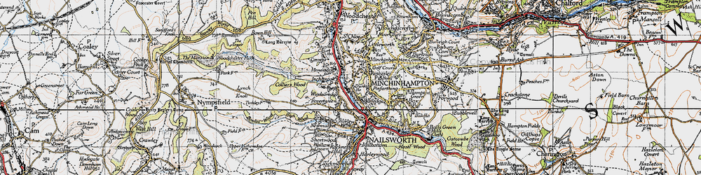 Old map of Inchbrook in 1946