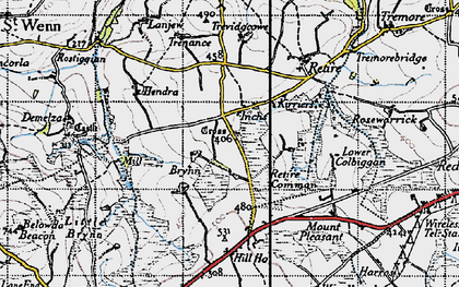 Old map of Inchs in 1946