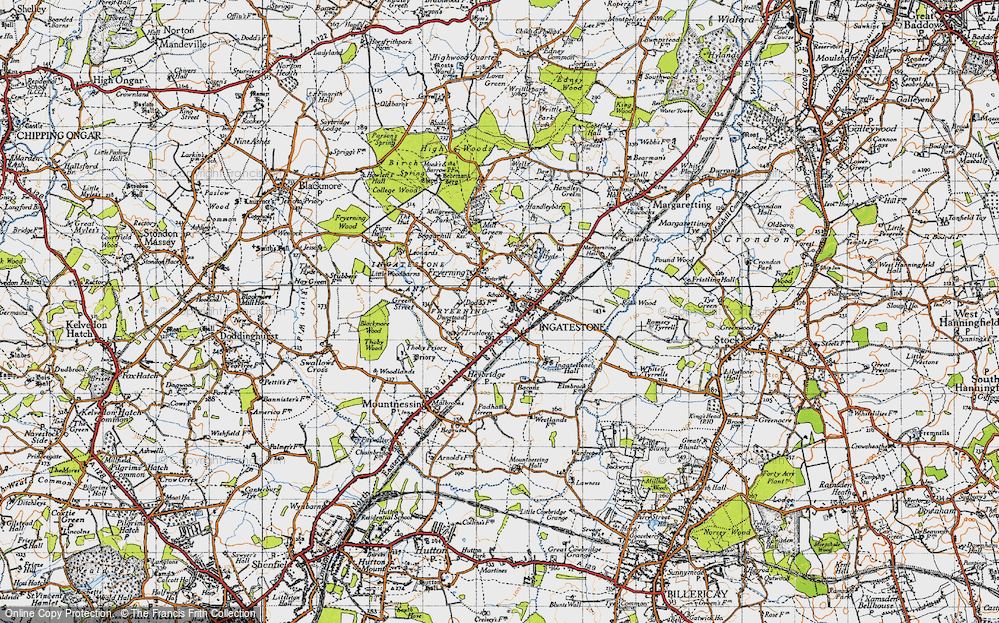 Old Map of Ingatestone, 1946 in 1946