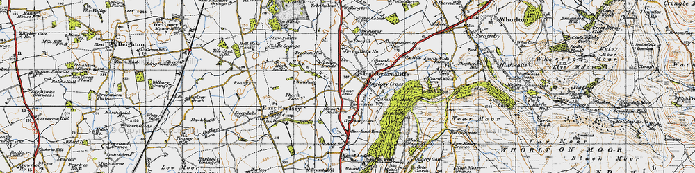 Old map of Winchatt in 1947