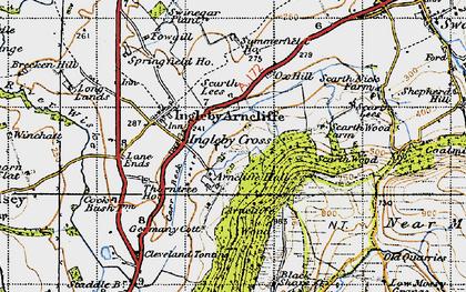 Old map of Ingleby Cross in 1947