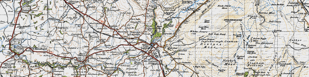 Old map of White Scar Cave in 1947