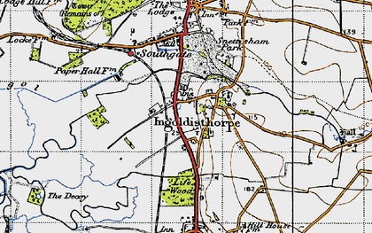 Old map of Ingoldisthorpe in 1946