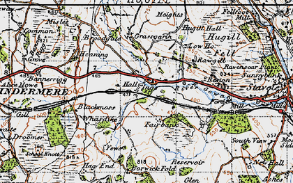 Old map of Whasdike in 1947
