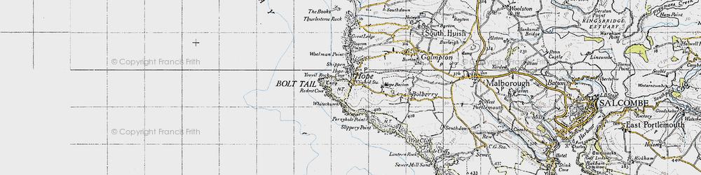 Old map of Yeovil Rock in 1946