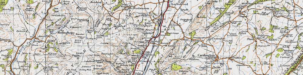 Old map of Worsley in 1947