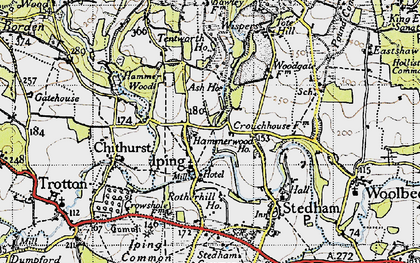 Old map of Iping in 1945
