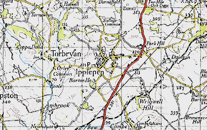 Old map of Ipplepen in 1946