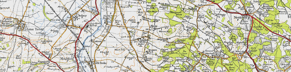 Old map of Wicks Hill in 1947