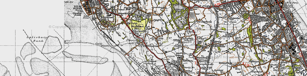 Old map of Irby in 1947