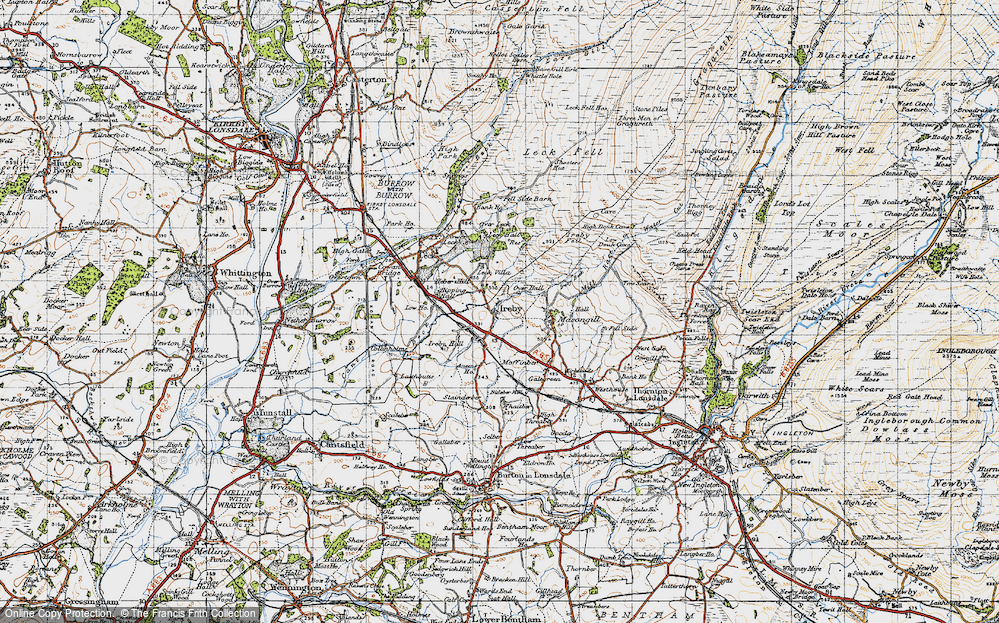 Old Map of Ireby, 1947 in 1947