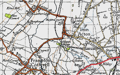 Old map of Algars Manor in 1946